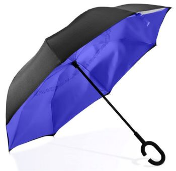 Personalised Reversible Umbrella - Blue
